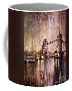 Watercolor Painting Of Tower Bridge London England Coffee Mug