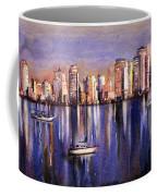 Watercolor Painting Of Vancouver Skyline Coffee Mug