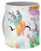 Watercolor Seagulls Coffee Mug