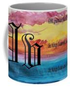 Watercolor V And Serenity Prayer Coffee Mug