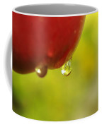 Waterdrop Sliding Off An Apple  Coffee Mug
