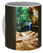 Waterfall At Cliff Side Coffee Mug