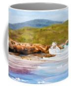 Waterfall Beach Denmark Painting Coffee Mug