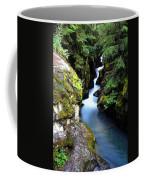 Waterfall, Glacier National Park Coffee Mug