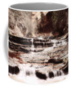 Waterfall In Sepia Coffee Mug