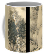Waterfall In Spring And Autumn Coffee Mug