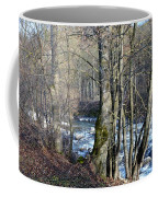 Waterfall In Winter Coffee Mug
