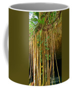 Waterfall Of Jungle Tree Roots Coffee Mug