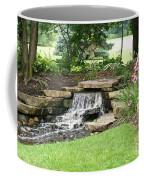 Waterfall With Coneflowers Coffee Mug