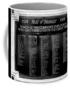 Waterloo Roll Of Honor 1914 1918 Coffee Mug