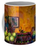 Watermelons On The Window Sill Coffee Mug
