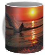 Waterskiing At Sunset Coffee Mug