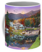 Waterville Estates In Autumn Coffee Mug by Nancy Griswold