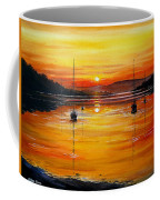 Watery Sunset At Bala Lake Coffee Mug