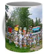Watson Lake Sign Forest Along Alaska Highway In  Yukon-canada Coffee Mug