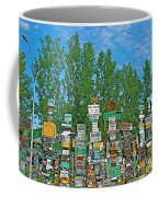 Watson Lake Sign Forest-yt Coffee Mug by Ruth Hager