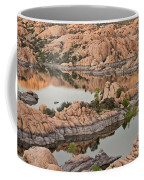 Watson Lake Sunset Coffee Mug by Angie Schutt