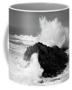 Wave At Shore Acres Bw Coffee Mug