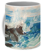 Wave At Sunset Beach Coffee Mug