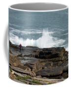 Wave Hitting Rock Coffee Mug