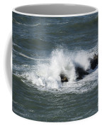 Wave On The Rocks Coffee Mug