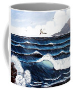 Waves And Tern Coffee Mug by Barbara Griffin