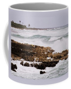 Waves Pounding Costa Maya, Mexico Coffee Mug