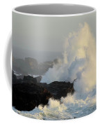 Waves At Salt Point Coffee Mug