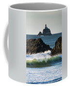 Waves Breaking At Ecola State Park Coffee Mug