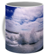 Waves Breaking At The Coast, Iceland Coffee Mug