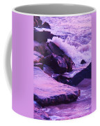 Waves  Breaking  On Jetties  Coffee Mug