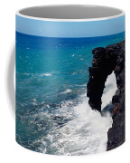 Waves Breaking On Rocks, Hawaii Coffee Mug