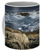 Waves Crashing Against The Shore In Acadia National Park Coffee Mug