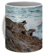 Waves Hitting The Rocks Coffee Mug