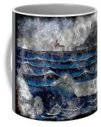 Waves - Ocean - Steel Engraving Coffee Mug