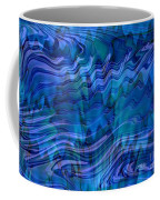 Waves Of Blue - Abstract Art Coffee Mug