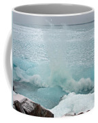 Waves Of Pancake Ice Crashing Ashore Coffee Mug