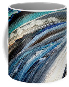 Textured Waves Of Blue Coffee Mug