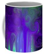 Waves Of Violet - Abstract Coffee Mug