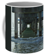 Waves Under The Clearwater Pier 60 Coffee Mug