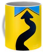 Wavy Arrow Concept Of Winding Road To Success Coffee Mug