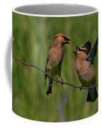 Waxwing Love.. Coffee Mug by Nina Stavlund