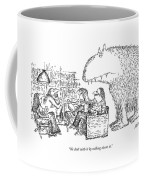 We Deal With It By Talking About It Coffee Mug by Edward Koren