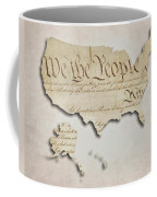 We The People - Us Constitution Map Coffee Mug