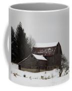 Weathered Barns In Winter Coffee Mug