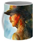 Weathered Cowboy Coffee Mug by Jani Freimann