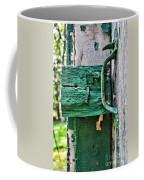 Weathered Green Paint Coffee Mug