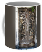 Weathered Wood Door Venice Italy Coffee Mug