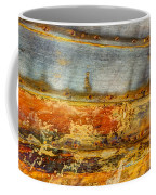 Weathered Wooden Boat - Abstract Coffee Mug