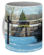 Webster Park Sign Coffee Mug